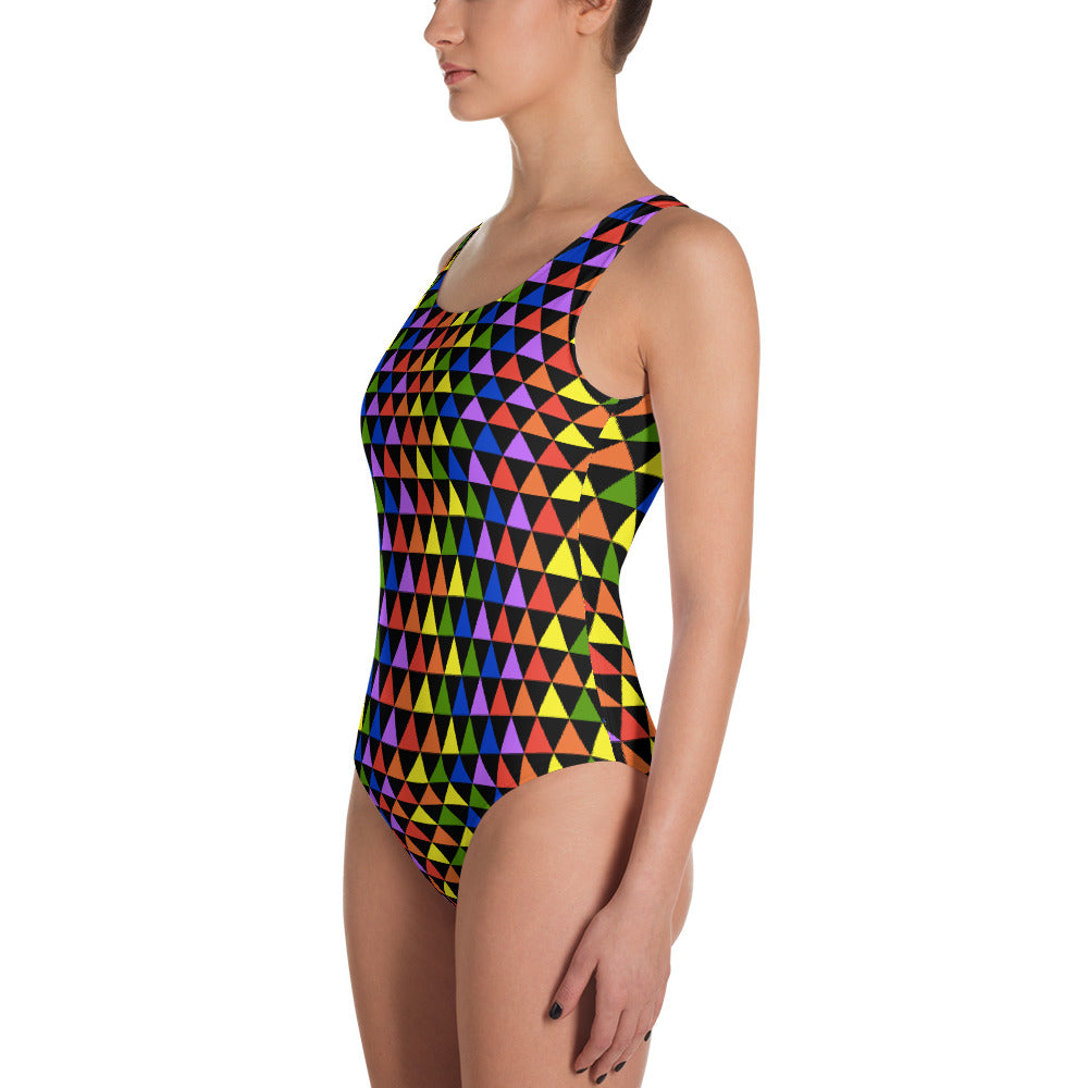 Rainbow Triangles One-Piece Swimsuit