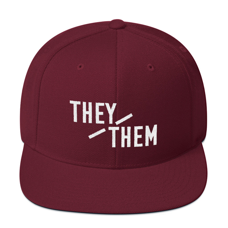 They/Them Pronouns Snapback Hat