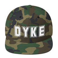 Dyke Collegian Snapback Hat | Wear your sexuality with pride!