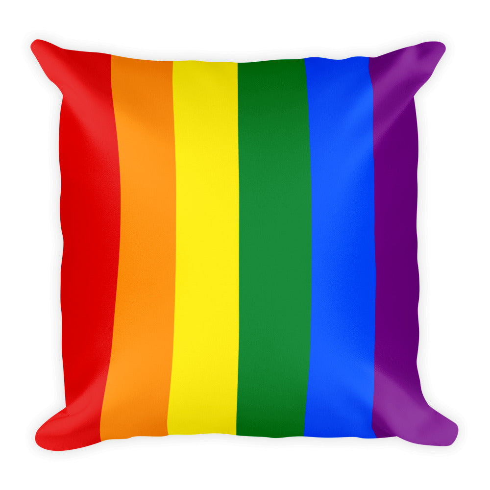 Rainbow Gay Flag Square Pillow / Cushion | Show your LGBT pride at home