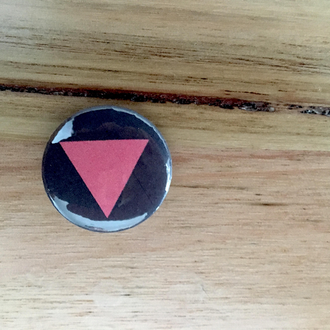 "Pink Triangle Button Badge 25mm Button Badge 1"" Button Badge Gay Pride Badge Gay Pride Pin Equality Badge Love Badge Love Button Badge"