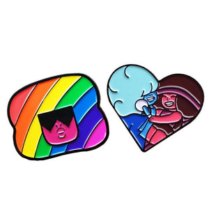 Cartoon Rainbow Enamel pins