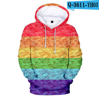 LGBT Rainbow Stripes Printed Sweatshirt Hoodies
