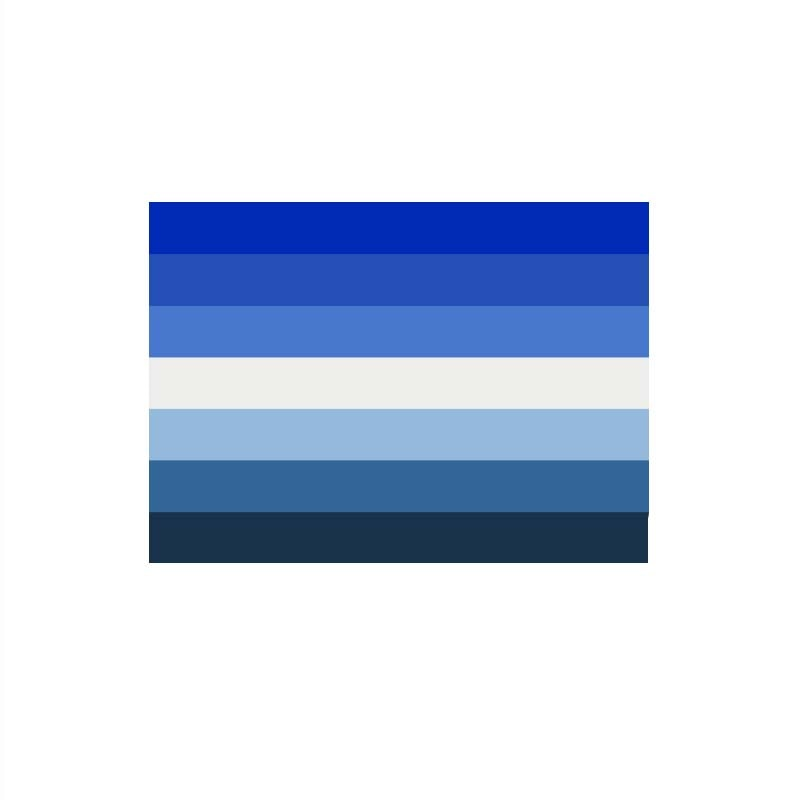 90*150cm  blue gay flag