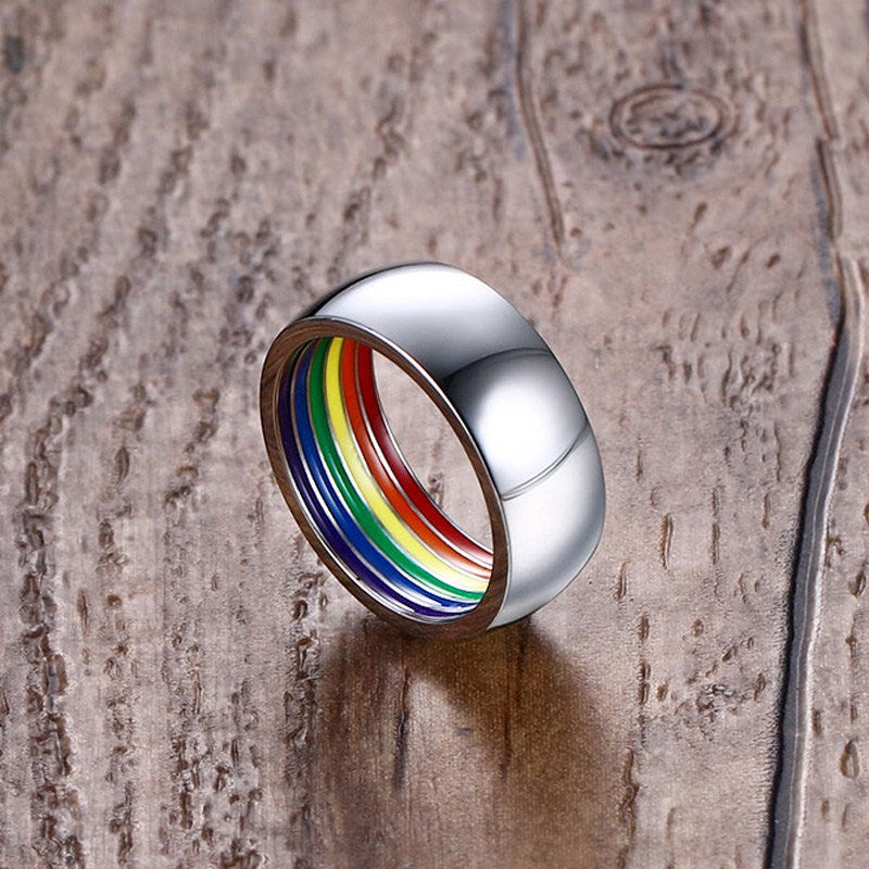 Inside Rainbow LGBT Pride Flag Ring