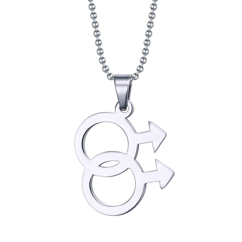 Gay symbol stainless steel pendant/necklace