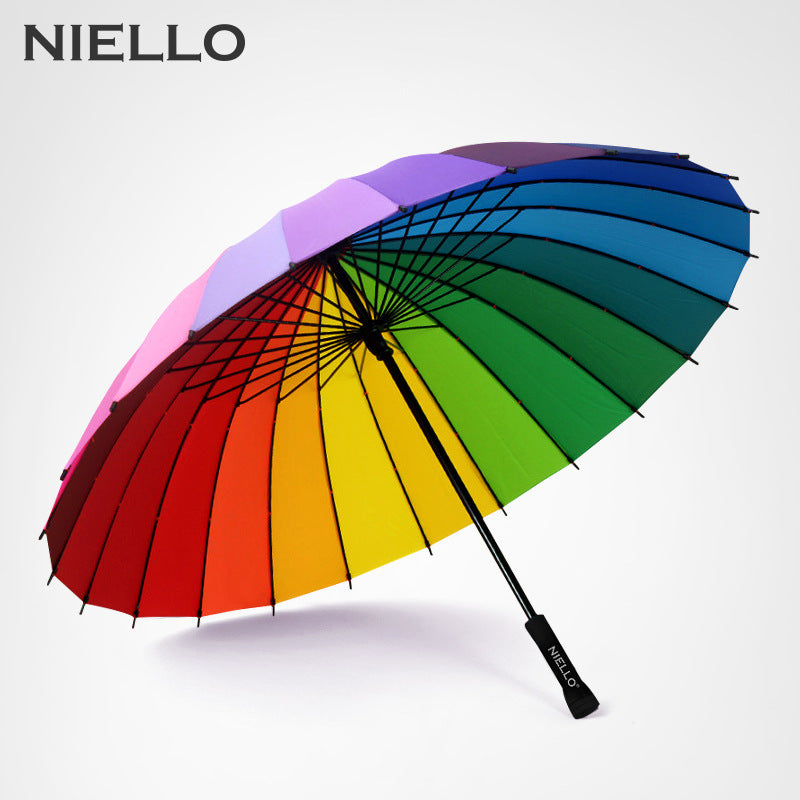 Rainbow Umbrella 24K Windproof