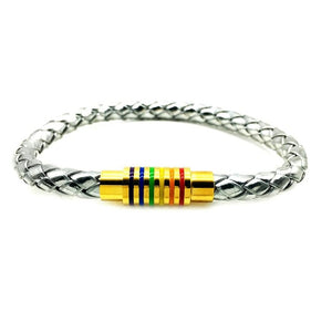 Stainless Steel Magnet Buckle Gay Pride Bracelet