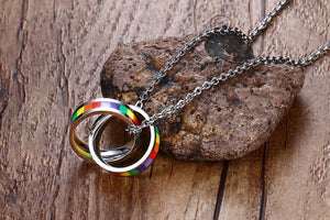 Rainbow Rings Necklace