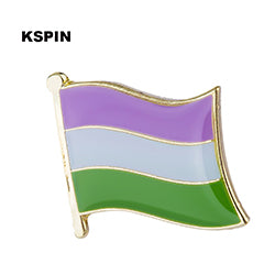 Lapel Pin badges for LGBT including Asexual, Bisexual, Pansexual, Genderqueer and Transgender flags
