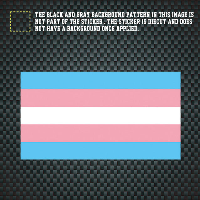 Rainbow Gay/Lesbian Pride, Bisexual, Transgender and Rainbow Flag Decal Stickers