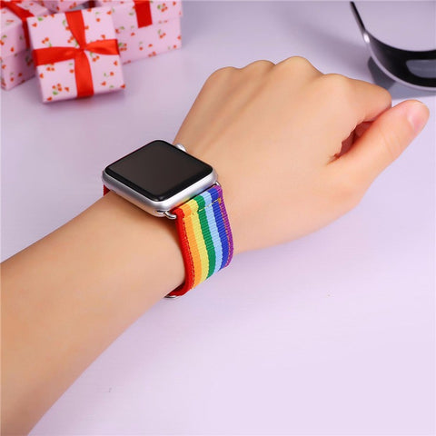 Imitation Rainbow Pride Apple Watch for 42MM, 38MM, Series 3/2/1