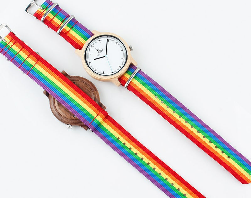 LGBT Rainbow Pride Wood Watches