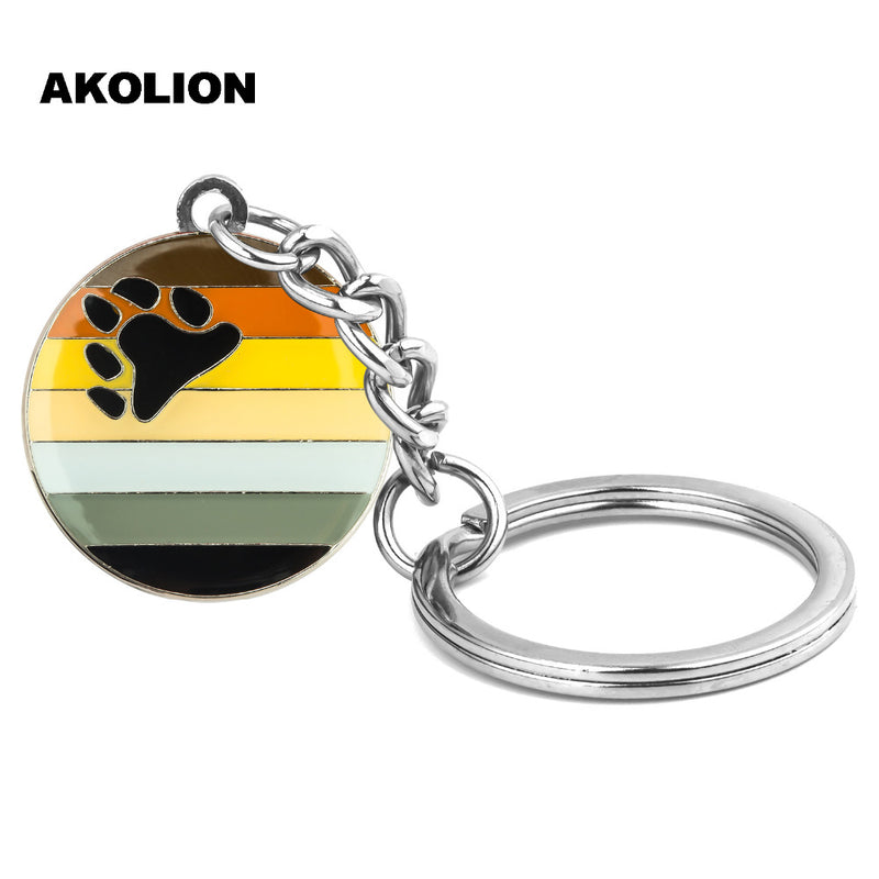 LGBT Pride Rainbow Asexual Bisexual Metal Key Rings