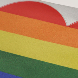 Gay Pride Rainbow Heart Sticker/ Decal For Your Car