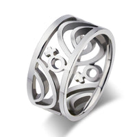 Hollow Stainless Steel Lesbian Symbol 9mm ring