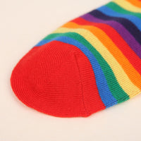 Horizontal Rainbow Short Socks