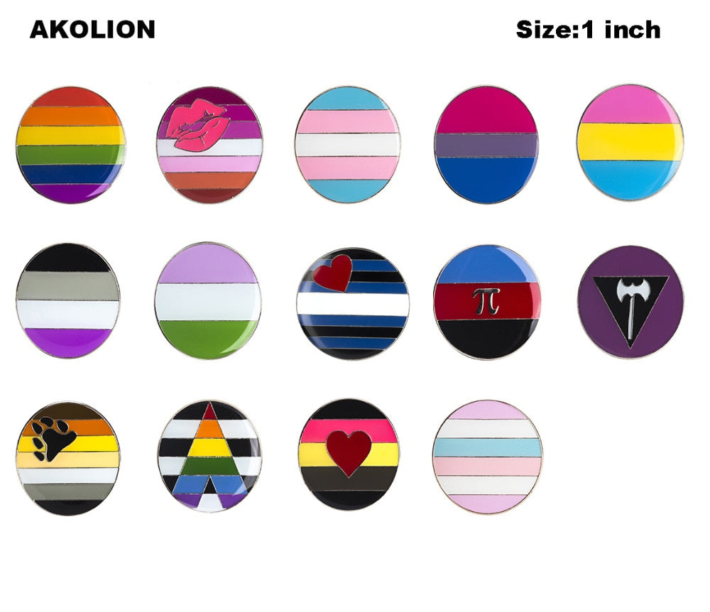 Pride Flag Metal Pins - Multiple designs