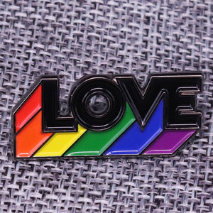 LGBT Love rainbow pin