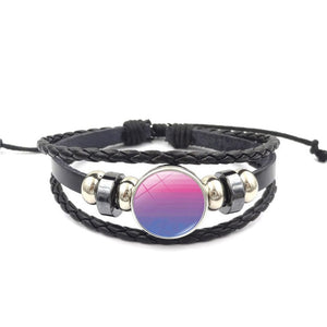 Pride Flags Glass Buckle Charm Bracelet