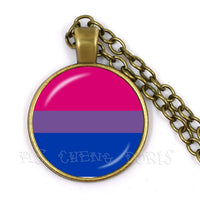 Pride Flag Necklaces (various flags including trans, bi, lesbian, genderqueer and lesbian)