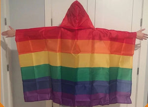Rainbow Cape body Flag