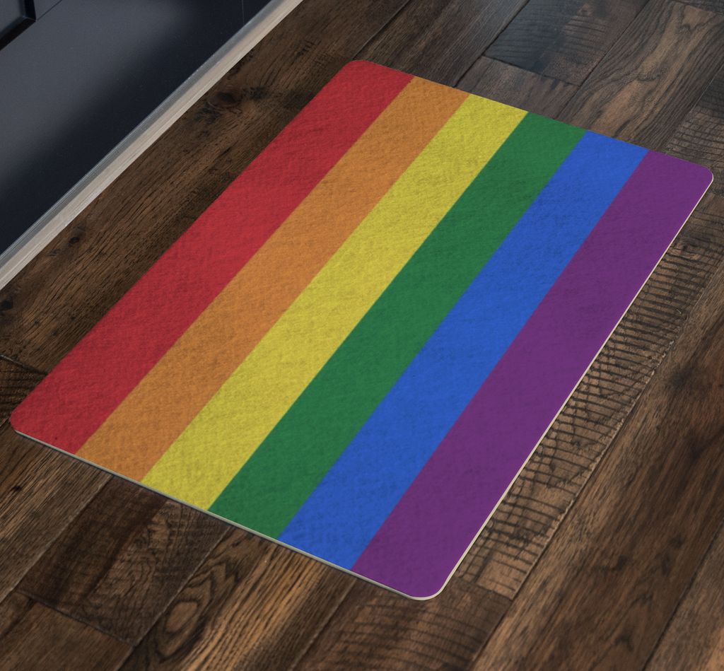 Rainbow Flag Door Mat - perfect to welcoming family!