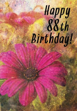 Happy 88th Birthday: Birthday Memory Book, Birthday Journal Notebook For 88 Year Old For Journaling & Doodling, 7 x 10, (Birthday Keepsake Book)