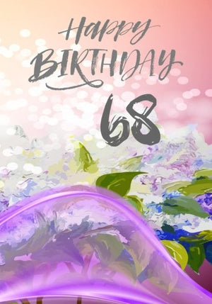Happy Birthday 68: Birthday Books For Adults, Birthday Journal Notebook For 68 Year Old For Journaling & Doodling, 7 x 10, (Birthday Keepsake Book