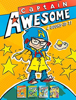Captain Awesome 4-Books-in-1: Captain Awesome Takes a Dive; Captain Awesome, Soccer Star; Captain Awesome Saves the Winter Wonderland; Captain Awe