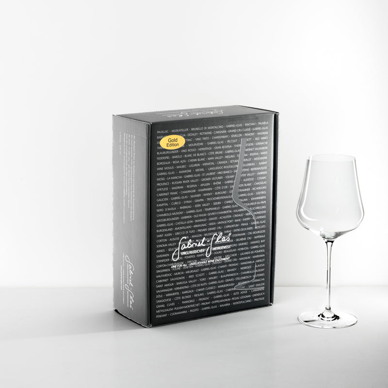 GABRIEL GLASS TWO WINE GLASS SET - GOLD EDITION
