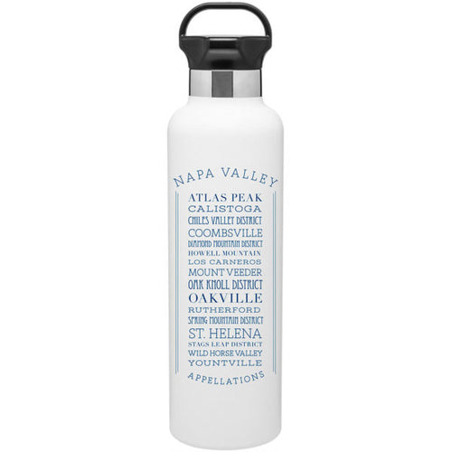 APPELLATIONS NAPA VALLEY STAINLESS STEEL WATER BOTTLE