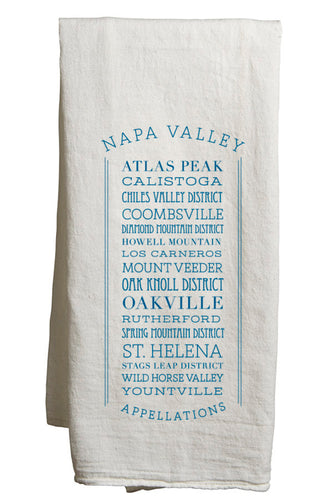 APPELLATIONS NAPA VALLEY TEA TOWEL