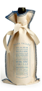 APPELLATIONS NAPA VALLEY COTTON TIE COVERSTITCH WINE GIFT BAG