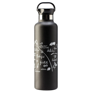 CALLIGRAPHY MAP NAPA VALLEY STAINLESS STEEL WATER BOTTLE