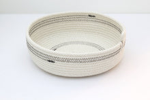 WOVEN GREY STRIPPED BASKET