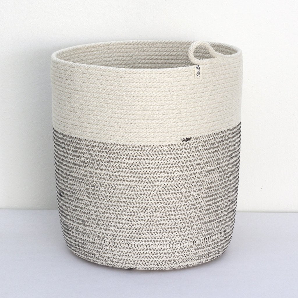 WOVEN GREY SPA FLOOR BASKET