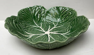 MAJOLICA LEAF CABBAGE SALAD BOWL