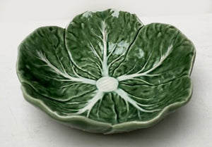 MAJOLICA CABBAGE LEAF SMALL SAUCE DISH
