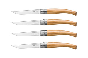 OPINEL 4 PIECE OLIVEWOOD HANDLE STEAK KNIFE SET