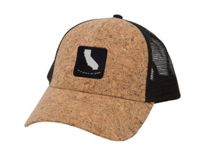 STATE OF WINE CALIFORNIA CORK TRUCKER HAT