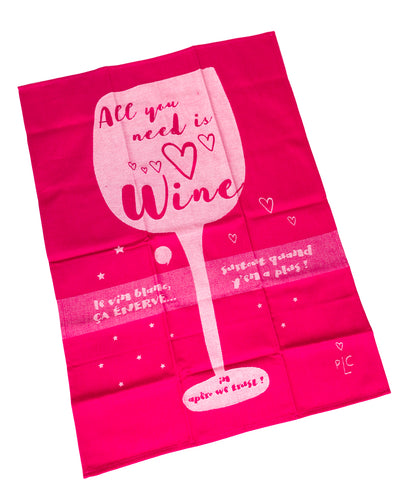 ALL YOU NEED IS WINE DISHTOWEL