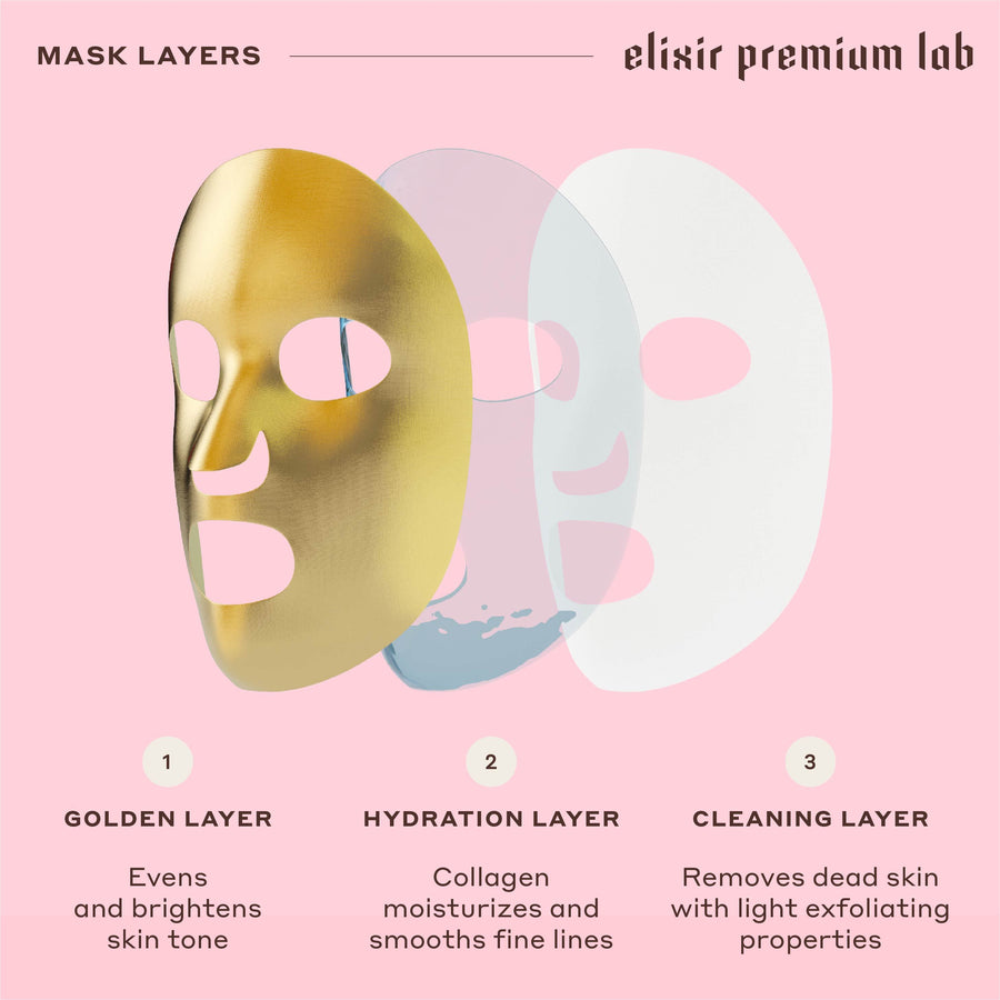 Collagen Golden Face Mask Set