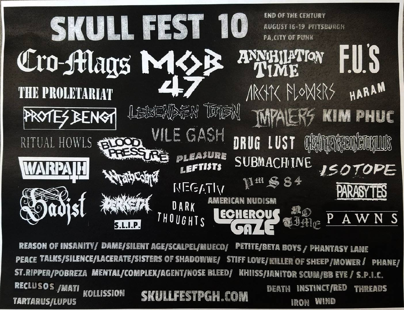 Skull Fest 10 and Play Alone Records present Arctic Flowers and More