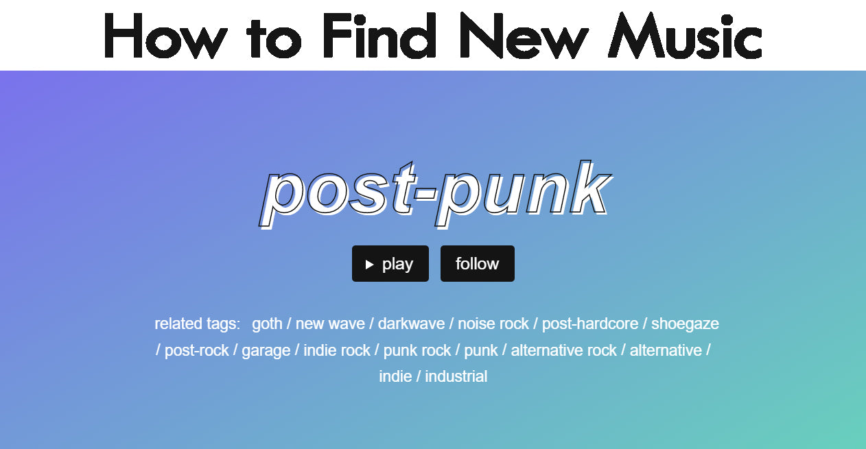 How to Find New Music