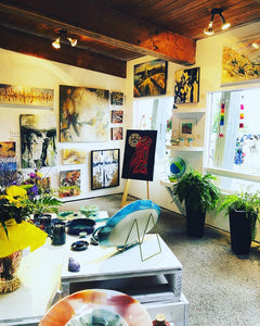 Painting at Gallery 97 in Peachland all summer!