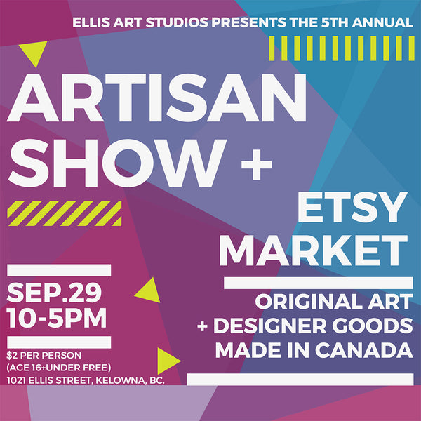 Come say hello TODAY at the Annual Artisan Show + Etsy Market!!!