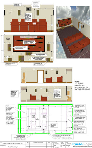 Presentation/Theatre Room Layout Package