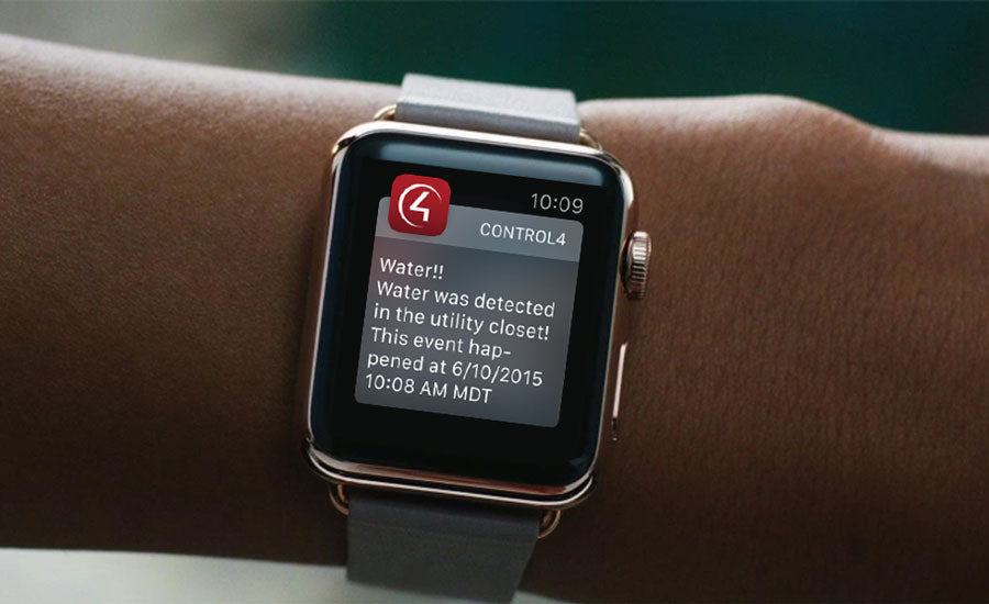 Control4 alert on Apple Watch