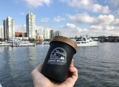 Vancouver Skyline Re:Stash Jar by Sunrise Wellness